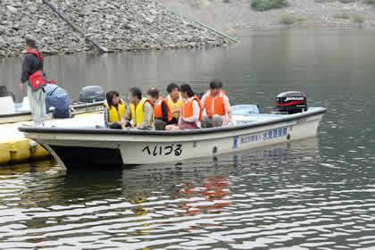 2008年10月-ならまた湖の遊覧船