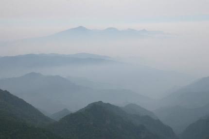 武尊山頂上からの眺め