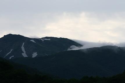 2009年7月2日夕方の朝日岳
