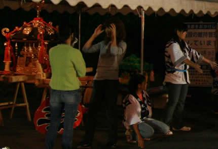 区民祭りの神輿