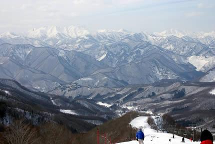 宝台樹スキー場第9リフト山頂より撮影