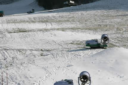 宝台樹の降雪機