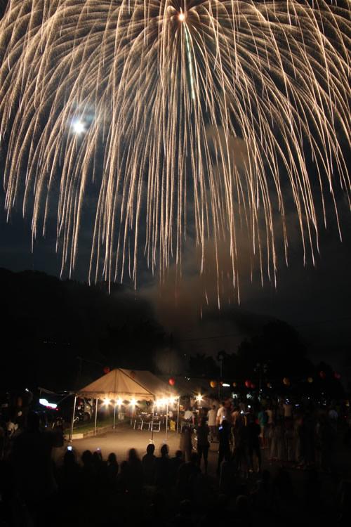 みなかみ藤原湖マラソン前夜祭花火2