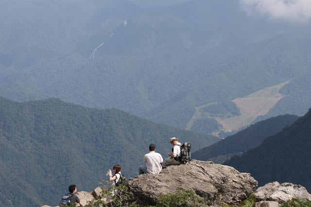 谷川岳中腹